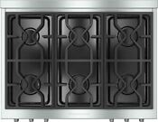 Miele Kmr1134lp 36 Stainless Pro Style Gas Rangetop Retail 4 199