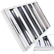 6x Stainless Steel Exhaust Hood Commercial Kitchen Vent Grease Filter Baffle Top