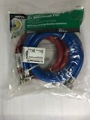 Watts 2 Pack 6 Reinforced Pvc Red Blue Washing Machine Connectors