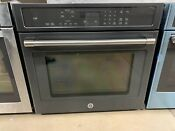 Caf Series 30 Built In Single True Euro Convection Wall Oven Black Slate Ge