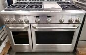 Ge Monogram 48 Dual Fuel Range Stainless Used A Few Times For Demonstration