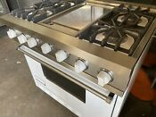 Viking Dual Fuel 36 Professional White Range Griddle Electric Oven 4 Gas Top