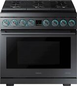 Samsung Chef Collection 5 9 Cu Ft Freestanding Gas Convection Range