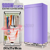 Hot Air Clothes Dryer Electric Drying Machine Rotary Switch Home Hanger Wardrobe