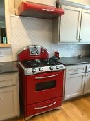 Red Elmira Retro Northstar Stove Hood