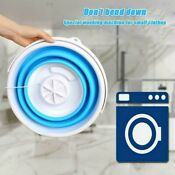 Mini Washing Machine Folding Automatic Laundry Clothes Bucket Laundry Tub Basin