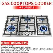 34 Stainless Steel 6 Burners Built In Stoves Lpg Natural Gas Cooker Hob Cooktop