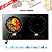 Electric Dual Induction Cooker Cooktop Countertop Double Burner 110v 2400w Super