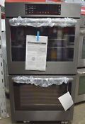 Bosch 800 Series Hbl8642uc 30 Double Electric Wall Oven Black Stainless