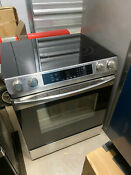 New Samsung 30 Smooth Surface Slide In Electric Range Oven Ne58r9311ss