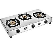 Sunflame Bonus Gas Stove 3burner Stainless Steel Silver Best Cooking Appliances