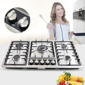 Built In 5 Burners Stove Top Gas Cooktop Kitchen Gas Cooking 33 8 Inch Us