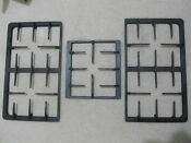 3x Range Stove Burner Grate Part 2 Big 1 Small Gas Kitchen Cooking Bbq Oven