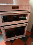 Kitchen Aid Convfentrial Combo Owen Microoven White Model Koce500ew 07 1 Yearol
