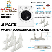 4 Pack New Washer Door Striker Replacement Parts For Frigidaire Kenmore Washing