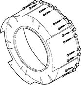 New Ge Washer Front Tub Shell Wh45x10005