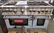 New Out Of Box Bluestar 48 Range 6 Burners Griddle 2 Ovens Stainless Steel