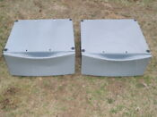 2 Whirlpool Duet Model Lab2700ml2 Pedestal From Washer Dryer Pewter Color