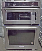 Kitchenaid Koce500ess 30 Stainless Steel Built In Microwave Oven Combination