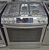 Samsung Nx60t8711ss 30 Slide In Smart Gas Range With 5 Sealed Burners