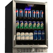 Compact 184 Can Built In Beverage Center Stainless Steel Commercial Size Fridge