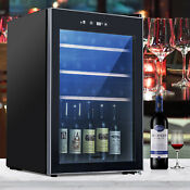 35 Bottles Wine Cooler Thermoelectric Chiller Fridge Refrigerator Cellar Black