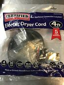 Electric Dryer Cord 4ft Model 90 2020 Certified Appliance