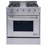 Nxr Elite Stainless Steel 30 Gas Range With Convection Oven New