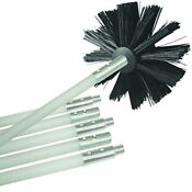Deflecto Dryer Duct Cleaning Kit Vent Flexible 12 Feet Long Clear 4 Inches Brush
