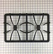 New Genuine Oem Ge Range Stove Double Burner Grate Wb31t10032 Matte Black