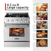 Thor Kitchen 30 4 Burners Stainless Steel Free Standing Gas Range Cooker Z6p0