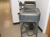 Antique Vint 1935 Maytag Wringer Washer Gyratator Works Gray Square W Cover