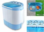 Compact Electric Portable Twin Tub Washing Machine Laundry Spin Cycle Dryer New