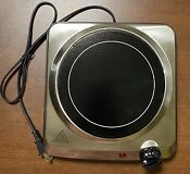 Brentwood Electric Single Burner Cast Iron Hot Plate Stove Top Ceramic Glass New