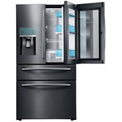 Samsung Showcase French Door Refrigerator W 27 8 Cu Ft Capacity Rf28jbedbsg