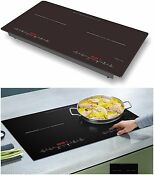 Professional Portable Digital Dual Electric Cooktop Countertop Insertable 1800 W