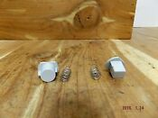 134385100 Kenmore Electric Dryer Push Button Knob W Spring Gray 2