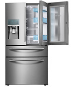 New Samsung Rf22kredbsr Aa22 4 Cu Ft 4door Refrigerator Msrp 2999