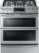 Samsung Stainless 30 Dual Fuel Slide In Range With Flex Duo Door Ny58j9850ws
