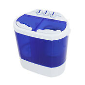 10lbs Portable Washing Machine Mini Compact Twin Tub Laundry Washer Spin Dryer