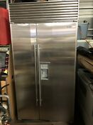 Sub Zero 680 S Refrigerator Freezer 42 Side By Side Stainless Steel