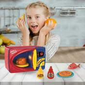 Kitchen Appliance Toy Kids Microwave Oven Battery Operated Realistic Toy