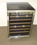 Edgestar Cwr531sz 24 Inch Wide 53 Bottle Built In Wine Cooler Stainless Steel