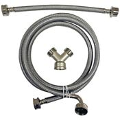 Certified Appliance Braided Stainless Steel 6ft Steam Dryer Installation Kit