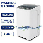 Full Automatic 8lbs Portable Compact Washing Machine Spin Dryer Laundry 1 6 Cuft