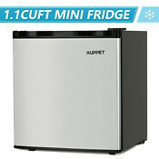1 1 Cu Ft Compact Mini Fridge Freezer Upright Small Refrigerator Stainless Steel
