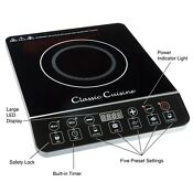 Multi Function 1800w Portable Induction Cooker Cooktop Burner Black By Classic