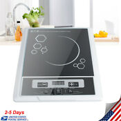 Induction Cooktop 1300w Professional Portable Counter Top Burner Cooker Us Stock