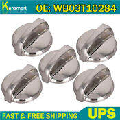 4pack Washer Knob Fits For Ge 175d3296p001 Wh01x10460 White Silver Knob New
