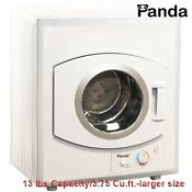 Portable Compact Clothes Dryer 110v Stainless Steel Drum 13lbs Capacity 3 75cuft